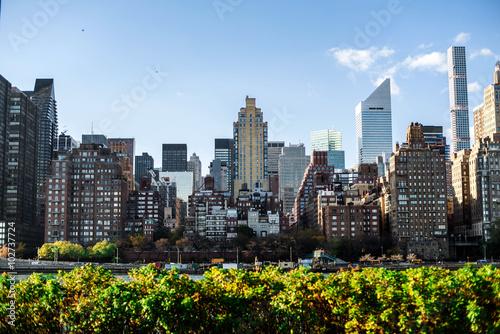 NewYork City panorama with Manhattan Skyline on sunny day