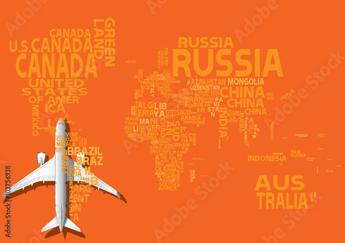 World map with orange letters of english alphabet travel concept world map with orange letters of english alphabet travel concept gumiabroncs Image collections
