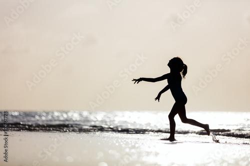 Recess Fitting Water Motor sports Little girl at a beach