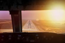 Final Approach During Sunset. ...