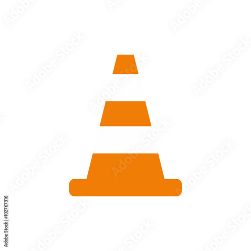 Fotomural Cone traffic flat icon