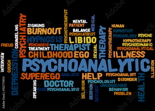 Fotografija  Psychoanalytic, word cloud concept 8