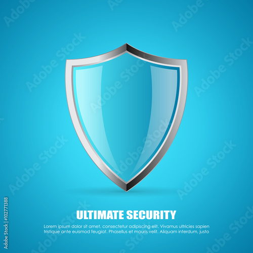 Fotografie, Obraz  Shield security icon