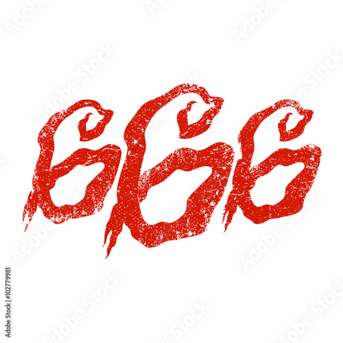 666 Graphic Lettering Canvas Print