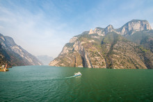 The Wu Gorge Of Three Gorges At The Yangtze River, China