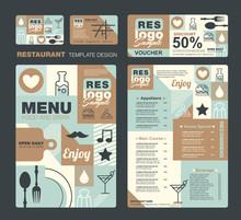 Big Set Of Restaurant And Cafe...