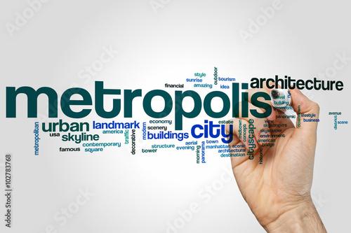 Foto  Metropolis word cloud