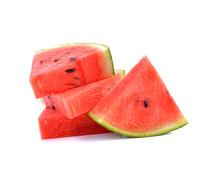 Watermelon Sliced  On White Ba...