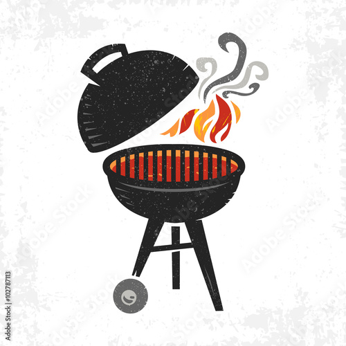 Fotografía  BBQ vector icon