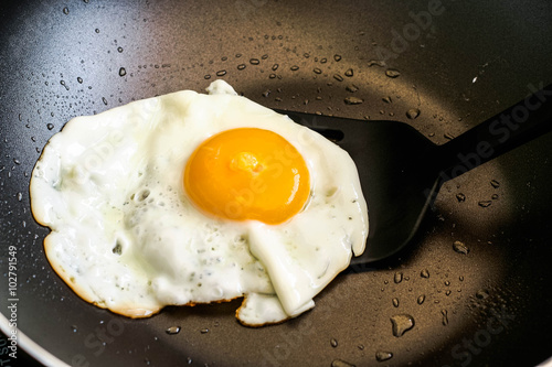 Deurstickers Gebakken Eieren fried egg