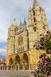 Famous Cathedral of Leon in Spain
