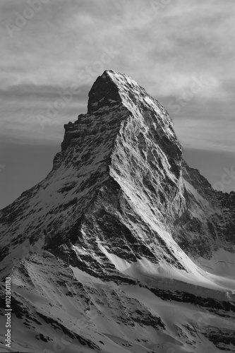 Mountain Matterhorn at dusk, Zermatt, Switzerland Wallpaper Mural