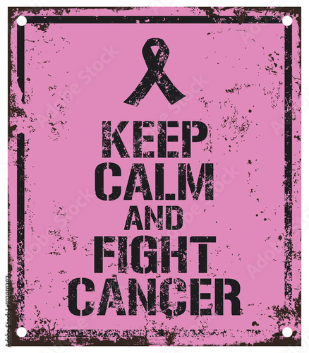 Fotografía  fight cancer sign