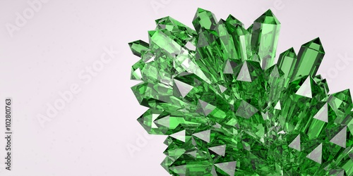 Emerald crystal Wallpaper Mural