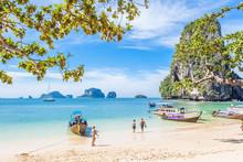 Plage De Phra-Nang, Krabi, Th...