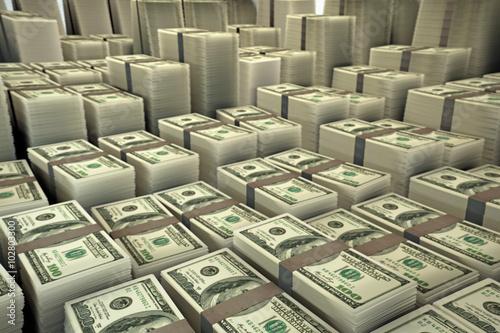 Fotografie, Obraz  dollar stack