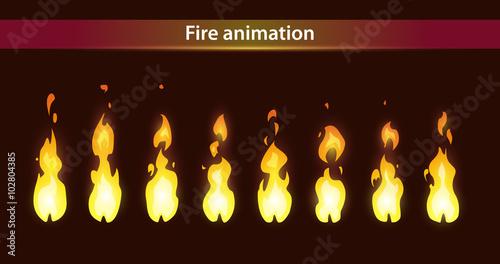 Valokuva  Fire animation sprites