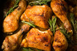 Spicy baked chicken with rosemary