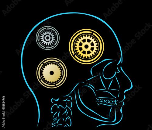 mysl i symbole kol zebatych - fototapety na wymiar