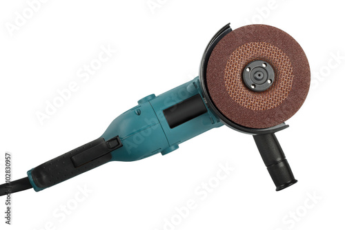 Foto angle grinders on a white background