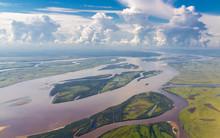 Amur River In Russia Near Khabarovsk