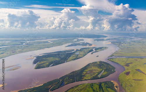 Photo Amur river in Russia near Khabarovsk