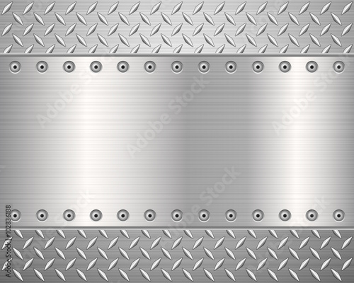 Poster Metal diamond metal background 2