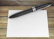 canvas print picture - Pen and Letter - 3D
