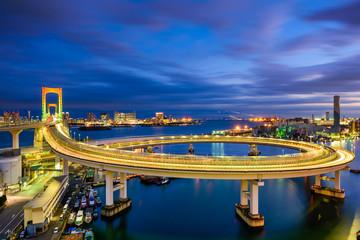 Panel Szklany Mosty Rainbow Bridge Tokyo