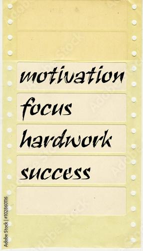 Fototapeta motivation quote, poster , achieve goal, success in business obraz na płótnie