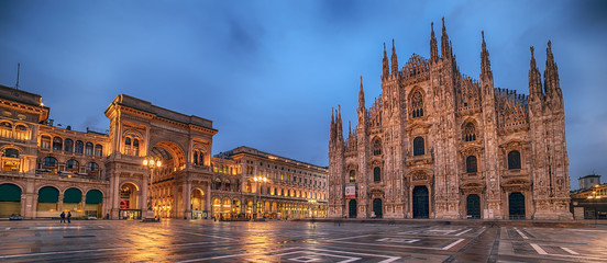 Milano, Italija: Piazza del Duomo, Katedralni trg