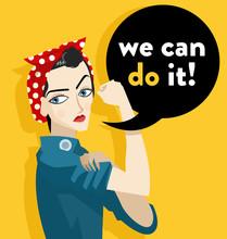 We Can Do It Feminist Girl