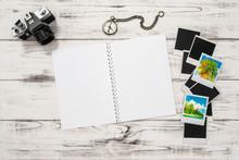 Open Travel Book, Photo Camera...