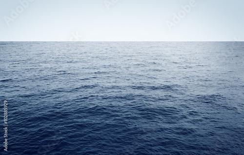 Poster Zee / Oceaan Blue sea minimal