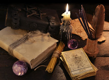 Still Life With Magic Objects And The Tarot Cards