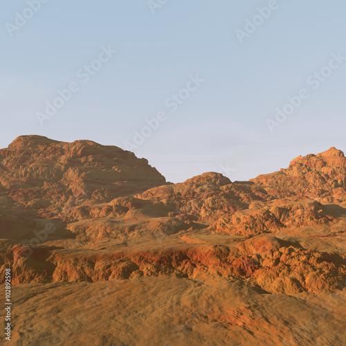 Tuinposter mountain landscape
