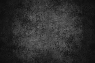 Fototapeta black scratched metal texture