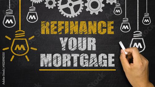 Fototapeta refinance your mortgage obraz