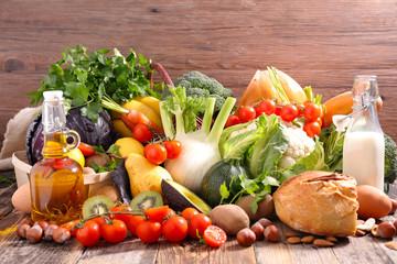 Panel Szklany Do gastronomi balanced diet food concept