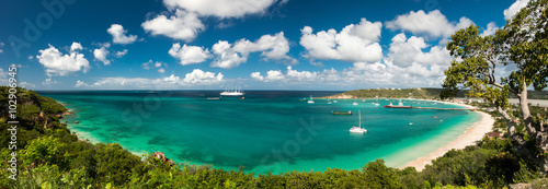 Obraz Sandy ground, Anguilla island, Caribbean sea - fototapety do salonu