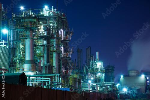 Fotografie, Obraz  京浜地区・川崎の工場の夕景・夜景