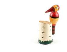 Wooden Figurine Of Woodpecker ...