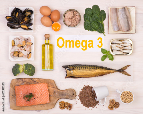 Valokuva  Food rich in omega 3 fatty acid