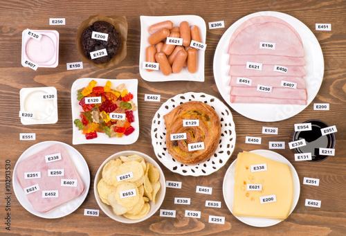 Fotografie, Obraz  Unhealthy food additives