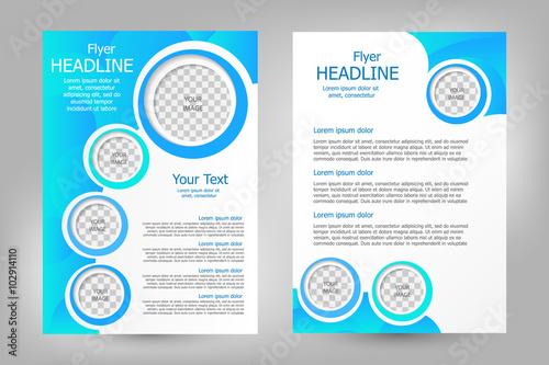 Fotografie, Obraz  Vector flyer template design