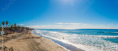 Aluminium Prints Sea Panoramic view of Coastline in San Diego