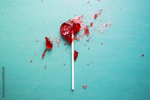 Photo broken heart lollipop