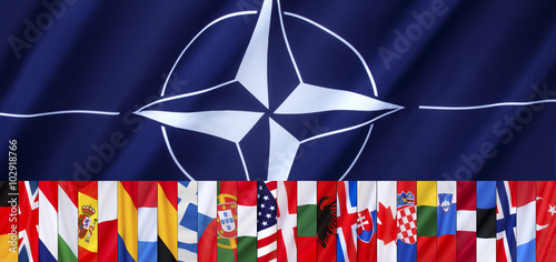 Photo  The 28 Flags of NATO - Page header