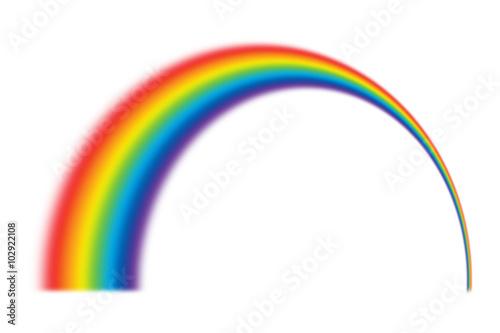 Fotografia  illustration of rainbow