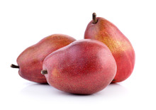 Red Pears Isolated On White Background
